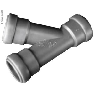 T-piece for 28 mm sewage pipe systems