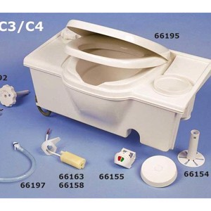 WC seat with cover C2/3 Colour: white C4