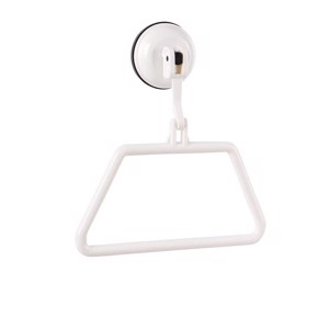 Towel holder with suction cup, white, up to 2kg