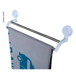 Towel holder for 2 towels with suction cups, 530 x 105 x 130 mm