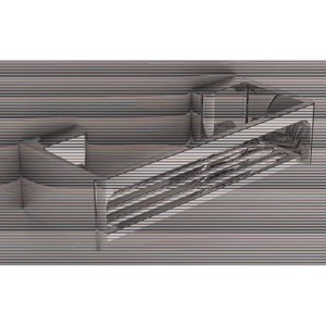 Shelf 320x100x84mm, chrome plated stainless steel