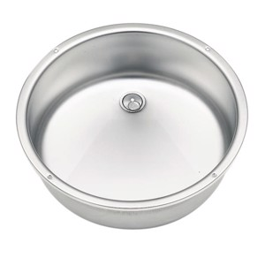 Stainless steel sink round 400mm