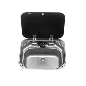 Rectangular Sink with Lid, 42 x 37 cm, Stainless Steel