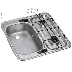Sink/cooker combination 49x46 2-flame right 30 mbar, HS 2460R
