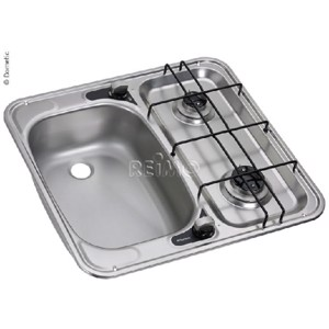 Sink and cooker combination 49x46cm basin left 30 mbar, HS 2460L