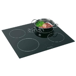 Glass ceramic hob with 4 hotplates, 2 x 1200W/1 x 1700W/1x 1800W