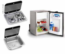 Combi camper van set 40 E - cooker, sink and built-in fridge