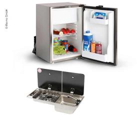 Camper van extension set 40 K - cooker-sink combination & built-in refrigerator