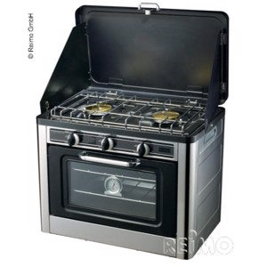Two burners and oven in one device