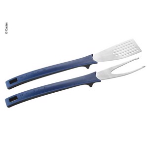 Magnetic nylon grill cutlery with soft-grip handles