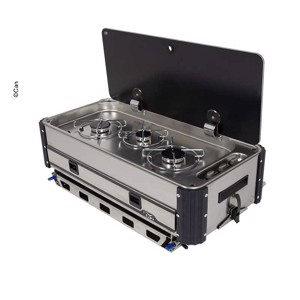 SL1350.LC/LL Slideout gas cooker, 3-flame