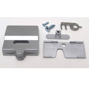Door lock Dometic 7er series, born door silver, 2-doors