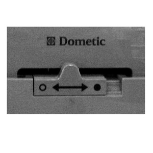 Slider for door lock Dometic Series7, straight door anthracite
