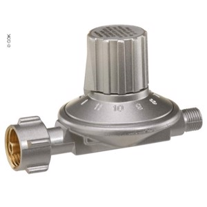 Pressure reducer with 11 stages, adjustable, 50 mbar