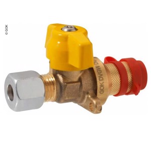 Branch coupling valve short with flange, RVS8 x plug-in coupling