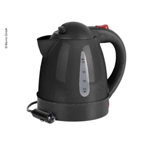 Electric kettle 12V/150W, 1 litre, black, concealed heating coil