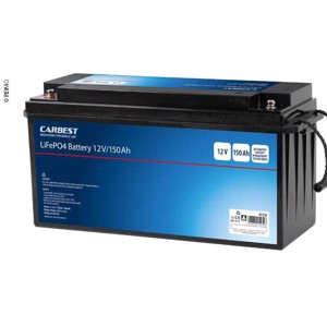 Carbest Lithium Iron Phosphate Battery (LiFEPO4), 150Ah