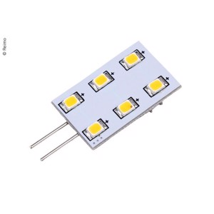 LED G4 illuminant, 1,2W, 90 Lumen, 6x warm white SMD