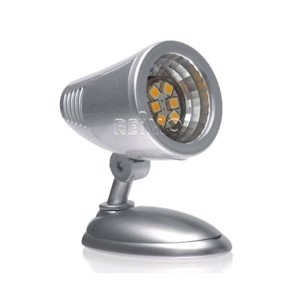 LED spotlight, 6 LED's silver plastic, with switch 0,6Watt