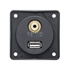 USB/audio built-in socket, anthracite loose