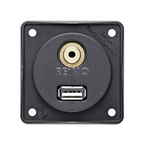 Built-in USB/audio jack, anthracite