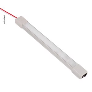 LED 12V aluminium line light with on/off switch, length: 266mm, 18 LEDs