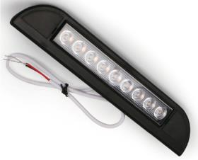 LED outdoor light, black, IP67, 3000K, 9 LEDs, length: 231mm