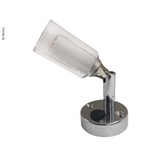 Reading lamp with double acrylic glass, swivel-mounted