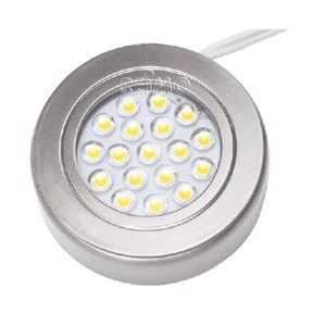 Build up spot 1W 18SMD LED nickel