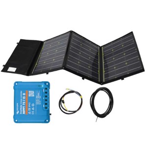 Single solar module 180W, foldable set including Victron MPPT charger