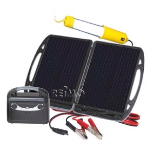 Carbest mobil solar generator with 13W module and battery 12V/7A
