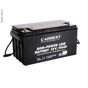 Carbest AGM battery 80Ah 350x167x179mm