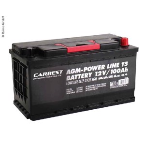 Carbest AGM 100Ah 353x175x190mm for T5 battery
