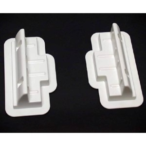 Extension set for solar modules, 2 connection profiles white