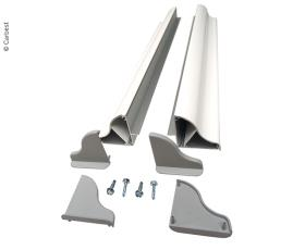 Solar panel mounting spoiler set width up to 410mm, 1 pair, 4 corners, 2 pieces