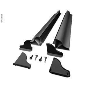 Solar panel mounting spoiler set width up to 550mm black