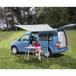 Sun canopy for smaller vehicles and short breaks