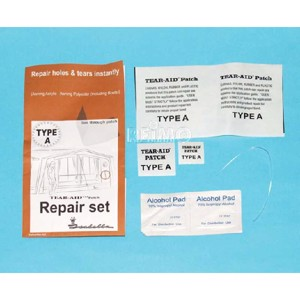 Tent Repair Kit, for Tent Cloth, Canvas and Foil, Type A: Acryl