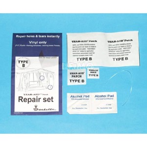 Tent Repair Kit, PVC, for Tent Cloth and Foil, Type B: PVC