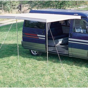 Multi Rail VWT5LR, black, pre-curved and drilled