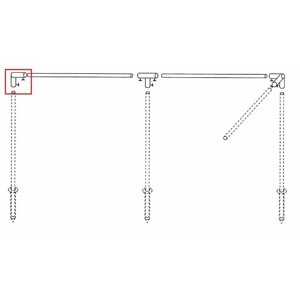 Wind protection poles end angle bracket, steel