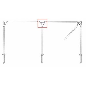 Wind protection poles T-piece, steel