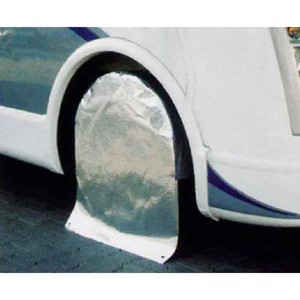 Protective tyre cover for motorhomes