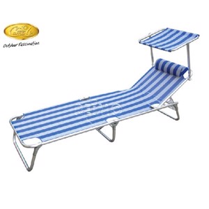 Camping Lounger, Sun Comfort III Camp4, white/blue