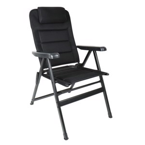 Camp4 Folding Camping Chair MALAGA BREEZE PLUS upholstered, pull-out headrest
