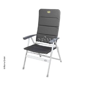 Aluminium Camping Chair, GRENOBLE, Camp4, black/silver