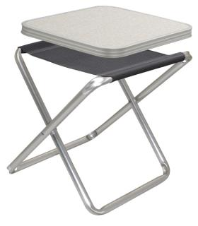 Camping Stool, TORTUGA Camp4 with MDF tabletop, anthracite