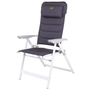 Aluminium Camping Chair, Pasadena Camp4, white/grey