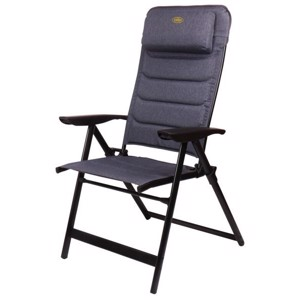 Aluminium Camping Chair, Pasadena Camp4, black/grey