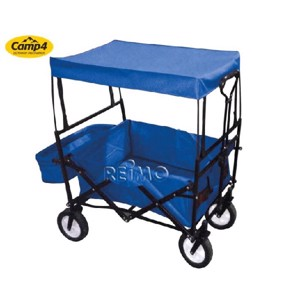 Beach buggy with roof, blue,  H97xW50xL90cm, with double floor